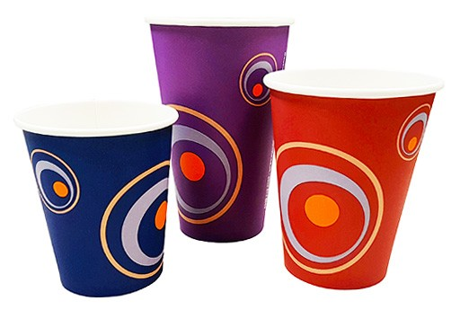 Swirl Design Take Out Cups & Lids
